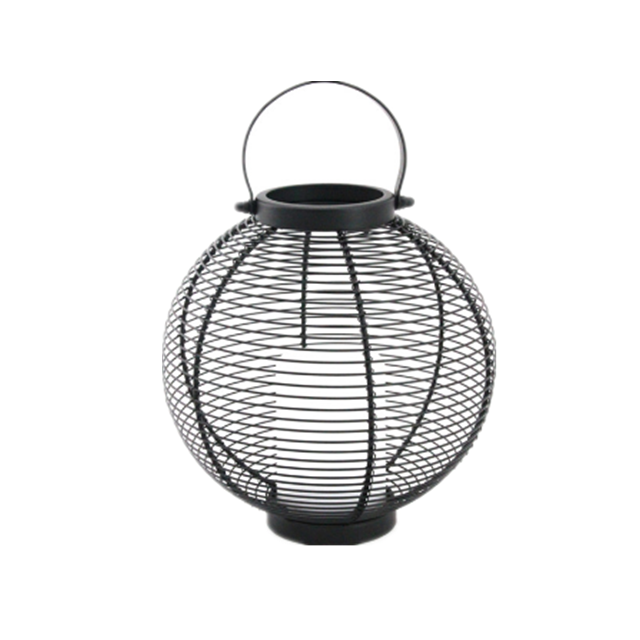 Solar Powered Metal Lantern Ball Shape - Large Size--LED Garden Decorative Lights Outdoor