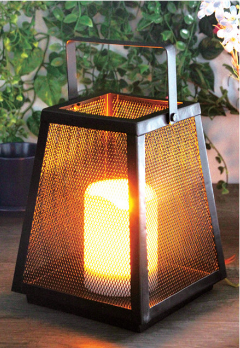 2019 Best Seller Factory Direct Solar Metal Garden Lantern with LED Candle Holder in Nature Color And Environment Protection