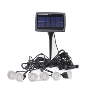 Solar LED Deck Lights -LED Garden Decorative Lights Outdoor Stainless Steel Underground Waterproof Deck Lighting
