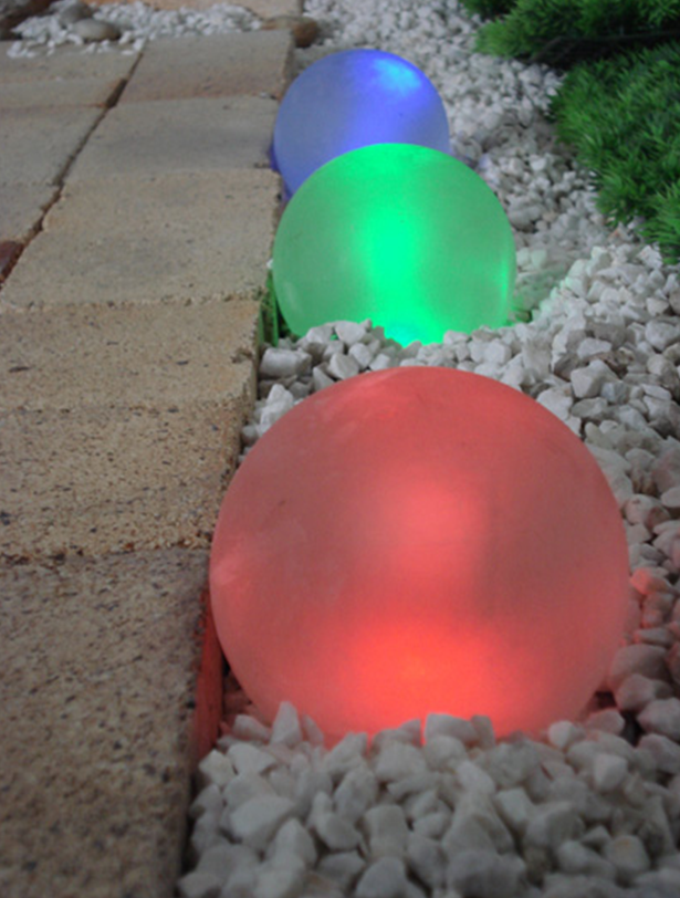 Solar Frosted Glass Peal LED Lights Outdoor --- Waterproof Garden Light