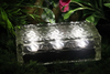 Solar LED Garden Decorative Glass Ice Brick Light Outdoor Crystal Stone