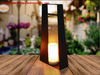 Solar Powered Metal Lantern - Small Size--LED Garden Decorative Lights Outdoor