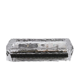Solar LED Garden Glass Ice Brick Light Outdoor