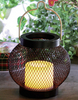 Solar Powered Iron Lantern-LED Garden Decorative Lights Outdoor