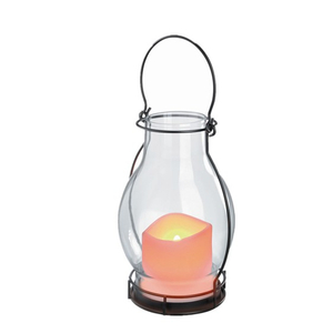 Iron Glass Lantern Light MS Shape - LED Garden Decorative Lights Outdoor